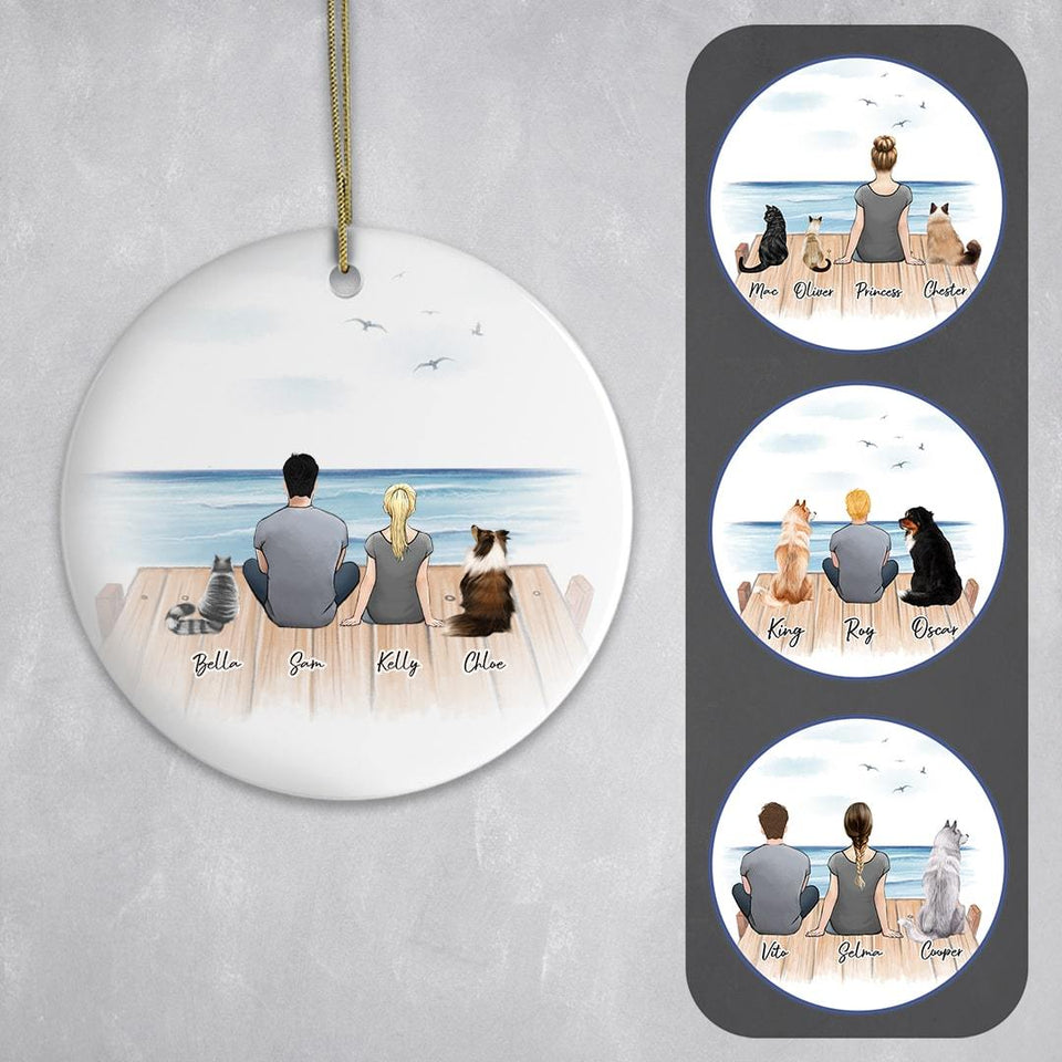 Personalized Pet & Owner The Dock Ornament Circle Ornament Gooten