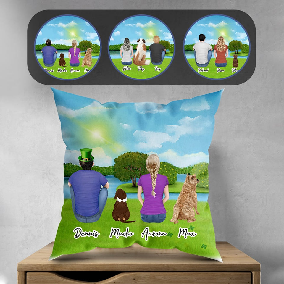 St. Patrick Personalized Pet & Owner Pillow
