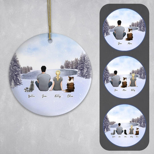 Snow Circle Ornament - Pet & Owner Personalized Ornament Gooten