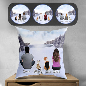 Snow Personalized Pet & Owner Pillow Gooten