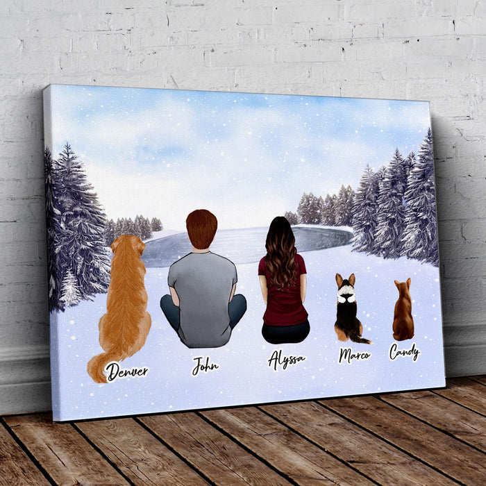 Snow Personalized Pet & Owner Wrapped Canvas Wrapped Canvas Gooten