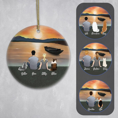 Sunset Circle Ornament Ornament Gooten