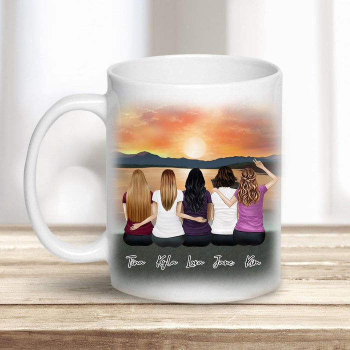 Sunset Personalized Best Friend (or Sisters) Coffee Mugs Mug Gooten