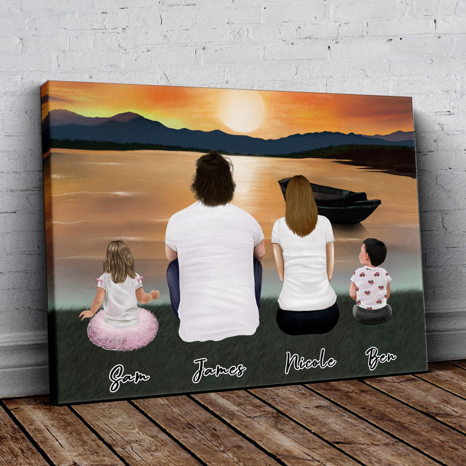 Sunset Personalized Family Wrapped Canvas Gooten