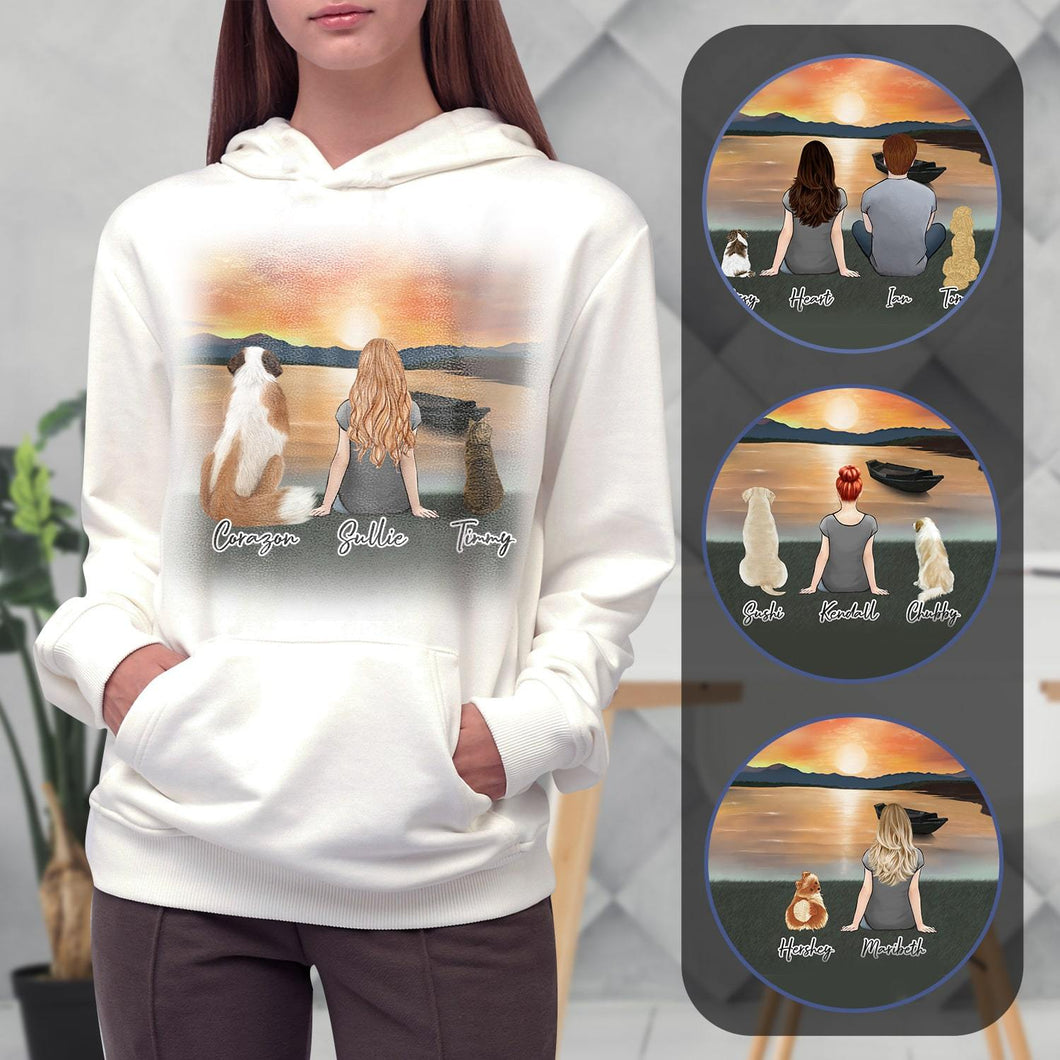 Sunset Personalized Pet & Owner Hoodies Gooten