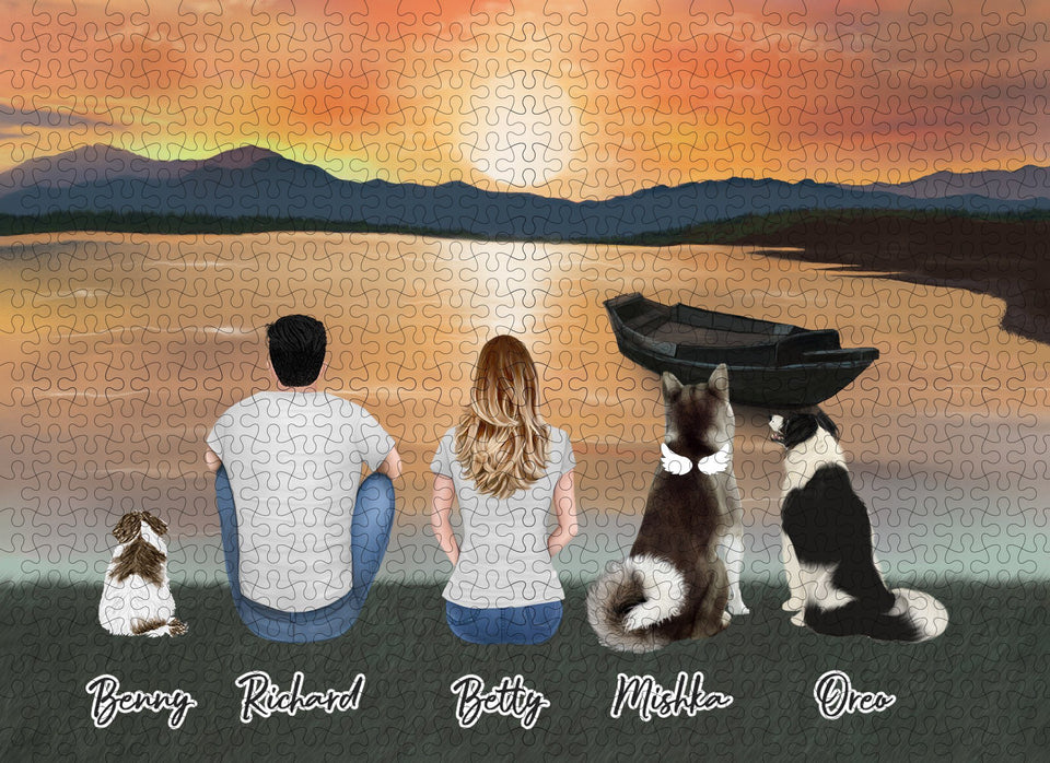 Sunset Personalized Pet & Owner Puzzle Puzzle Puzzle