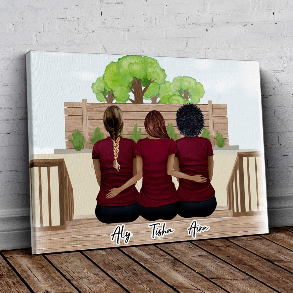 The Backyard Personalized Best Friend Wrapped Canvas Wrapped Canvas Gooten