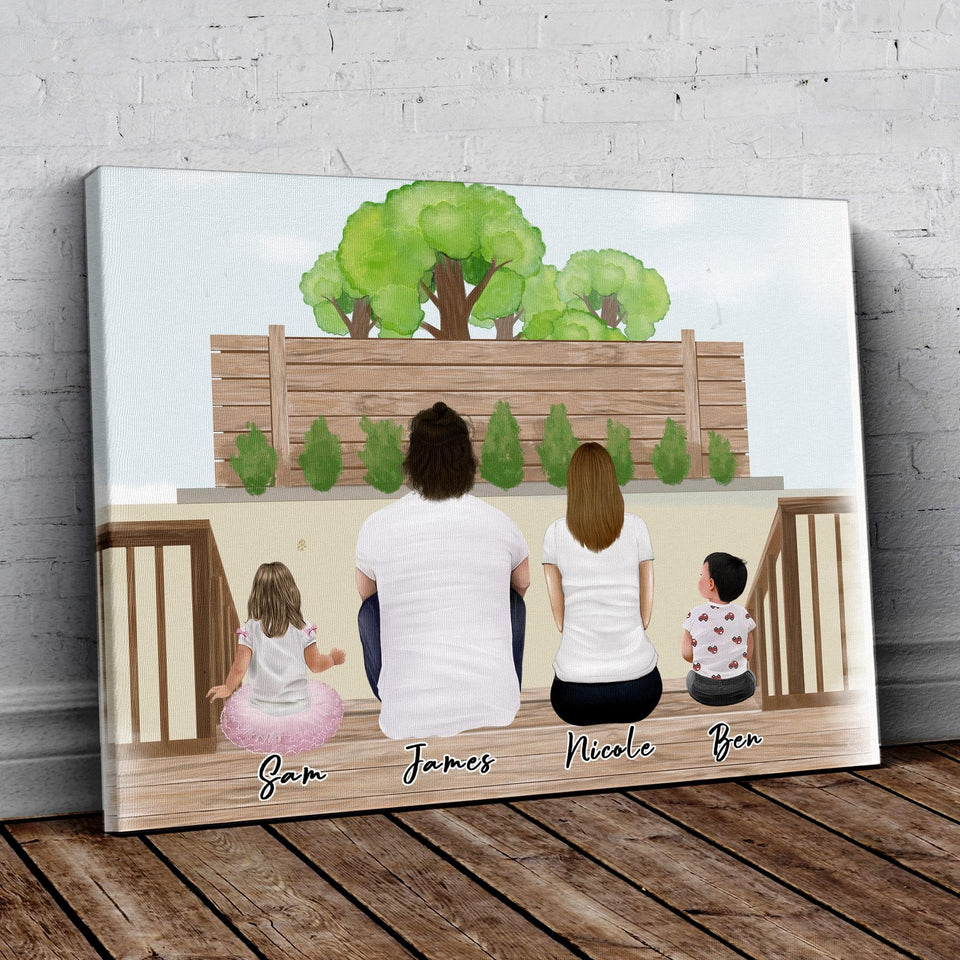 The Backyard Personalized Family Wrapped Canvas Gooten