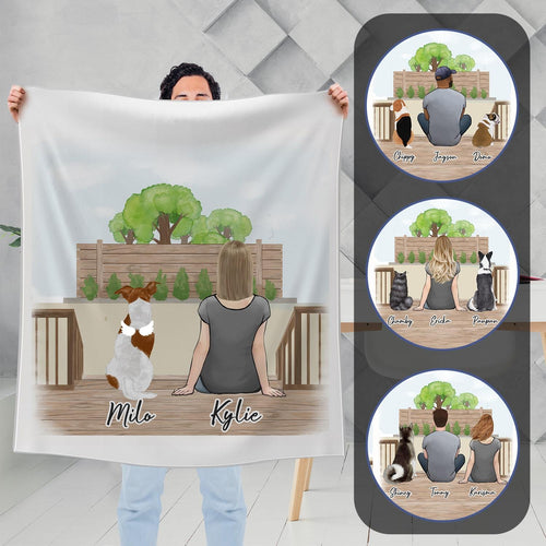 The Backyard Personalized Pet & Owner Blanket Blanket Gooten