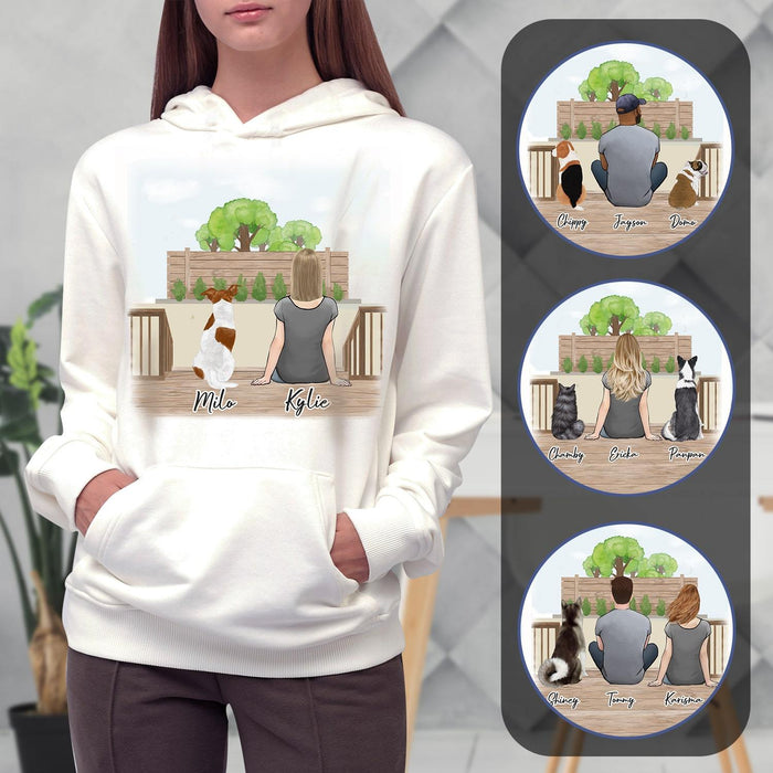 The Backyard Personalized Pet & Owner Hoodies Gooten