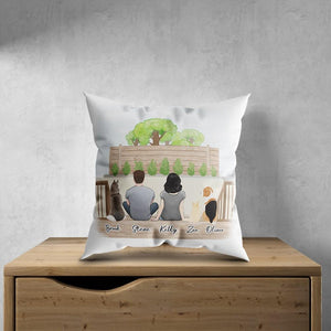 The Backyard Personalized Pet & Owner Pillow Gooten