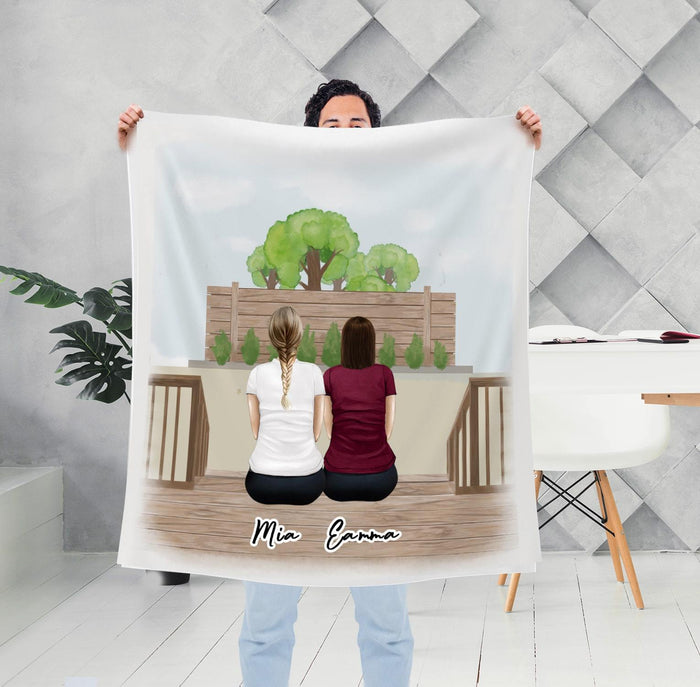 The Backyard Personalized Sister Best Friend Blanket Blanket Gooten