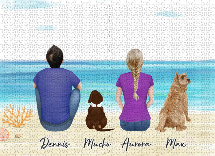 The Beach Personalized Pet & Owner Puzzle Puzzle Puzzle