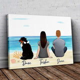 The Beach Personalzied Pet & Owner Wrapped Canvas Wrapped Canvas Gooten