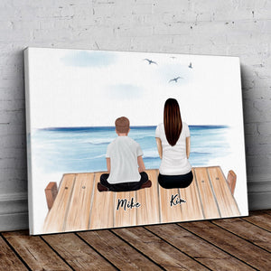 The Dock Personalized Family Wrapped Canvas Gooten