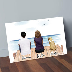 The Dock Personalized Pet & Owner Wrapped Canvas Wrapped Canvas Gooten