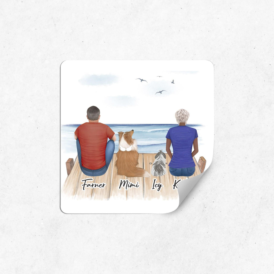 The Dock Square Sticker - Personalized Pet & Owner Sticker theonlinemachine