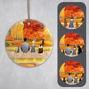 The Fall Circle Ornament - Personalized Pet & Owner Ornament Gooten