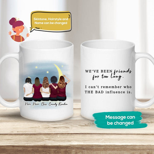 The Moon Personalized Best Friend Sister Coffee Mugs Mug Gooten