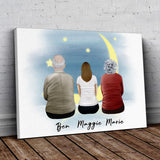 The Moon Personalized Family Wrapped Canvas Gooten