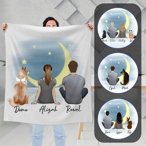 The Moon Personalized Pet & Owner Blanket Blanket Gooten