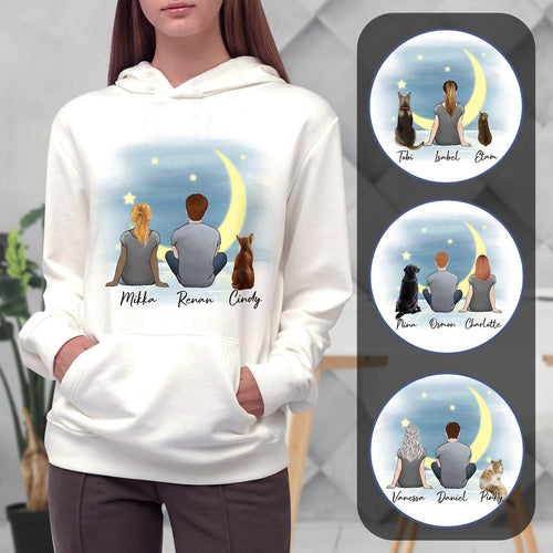 The Moon Personalized Pet & Owner Hoodies Gooten