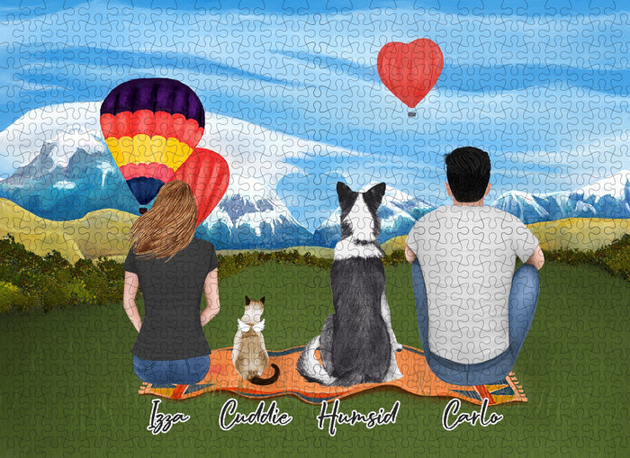 The Valentine Day Personalized Pet & Owner Puzzle Puzzle Puzzle