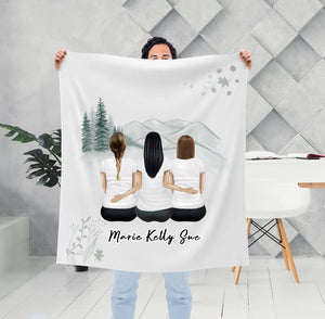 White Mountains Personalized Best Friend Sister Blanket Blanket Gooten