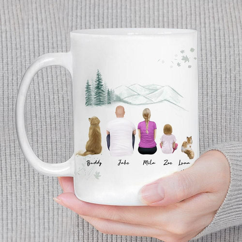 White Mountains Personalized Family Coffee Mug Mug Gooten