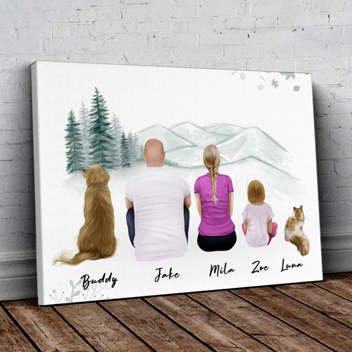 White Mountains Personalized Family Wrapped Canvas Gooten