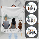 White Mountains Personalized Pet & Owner Blanket Blanket Gooten