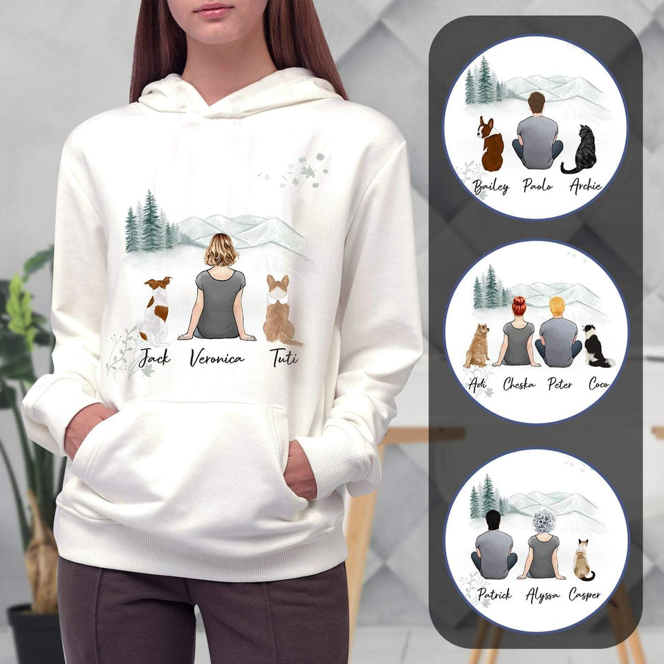 White Mountains Personalized Pet & Owner Hoodies Gooten