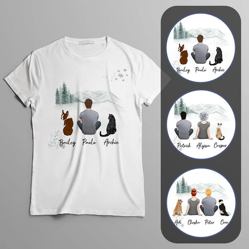 White Mountains Personalized Pet & Owner T-Shirt Gooten