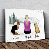White Mountains Personalized Pet & Owner Wrapped Canvas Wrapped Canvas Gooten