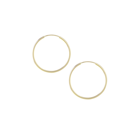 Ray Fine Hoop Earrings in Golden Color