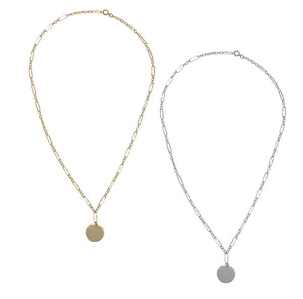 Anabelle Disc Necklace - Gold, Silver >>