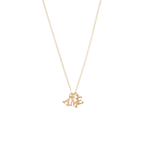 Alphabet City Necklace-Two or more Letters in Gold