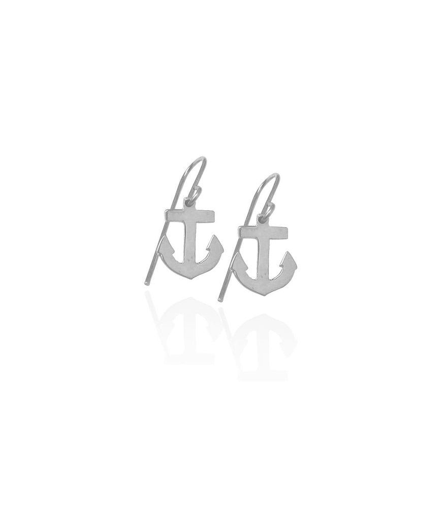 Anchor Earrings - Gold or silver >>