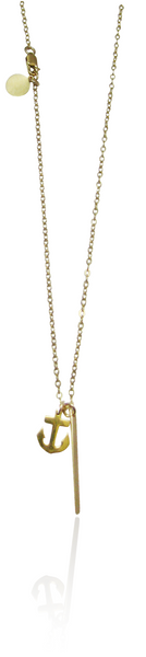 Anchor Necklace - Gold and Silver >>