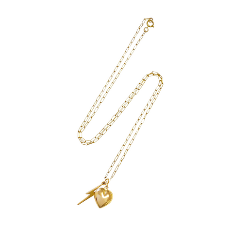 Anni Charm Necklace - Gold, Silver >>