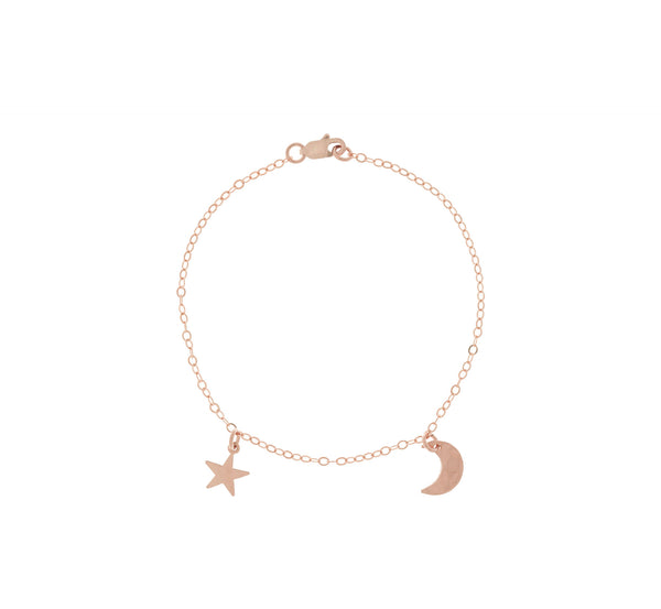 The Asher - Mini Moon and Star Bracelet Gold Color