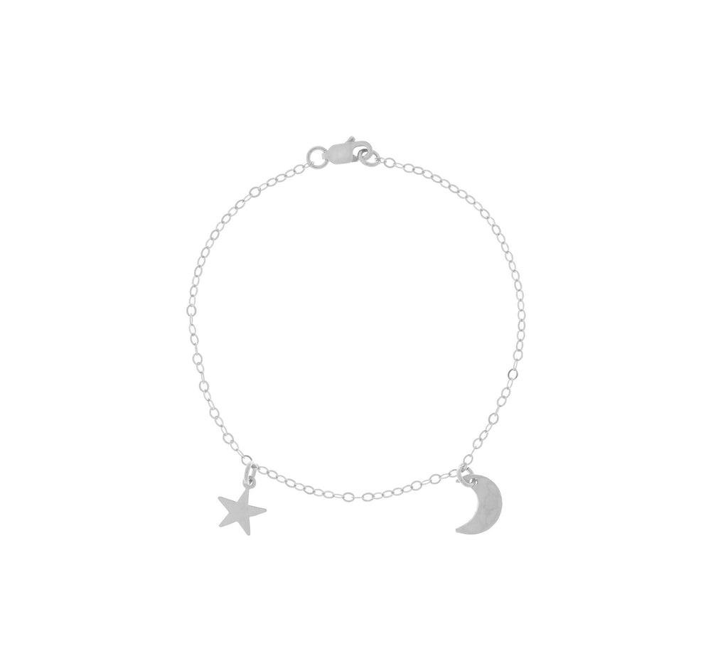 The Asher - Mini Moon and Star Bracelet - Gold, Silver, Rose Gold >>