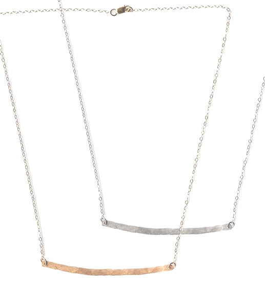 Bar Necklace - Gold, Silver >>>