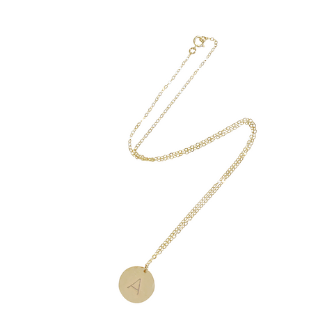 Bel Large Disc Necklace in Gold