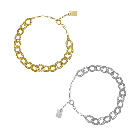 Billie Chain Bracelet - Gold, Silver >>