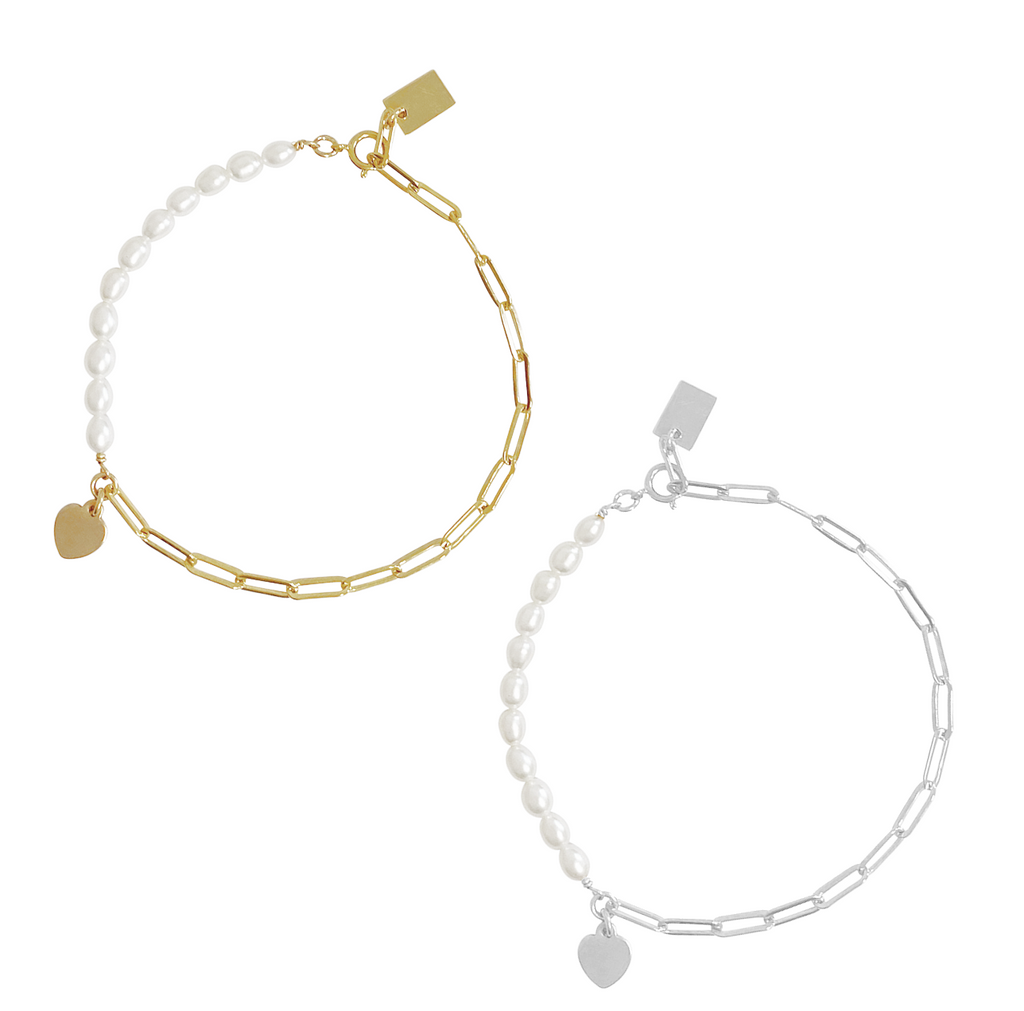 Bloom Pearl Bracelet - Gold, Silver >>