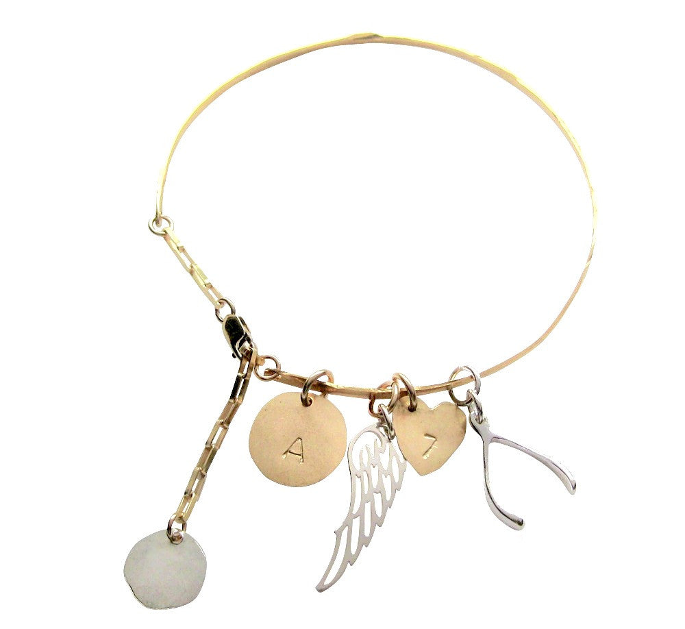 The Alyce - Charmed Skinny Cuff Gold and Silver Colors