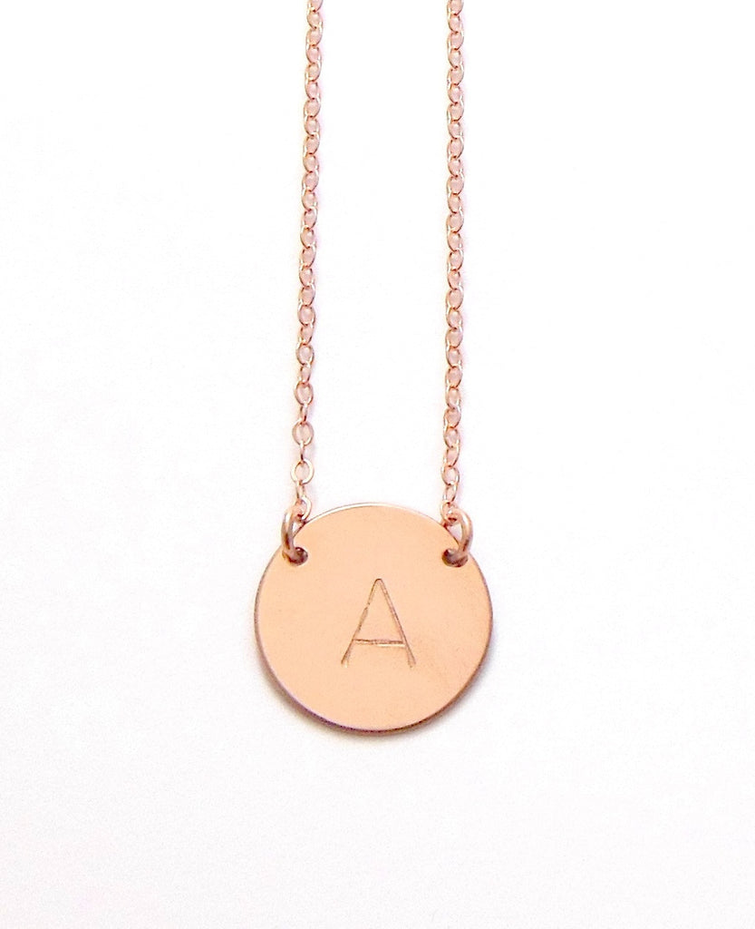Initial necklace misuzi the chloe classic font large initial necklace gold silver rose gold aloadofball Choice Image