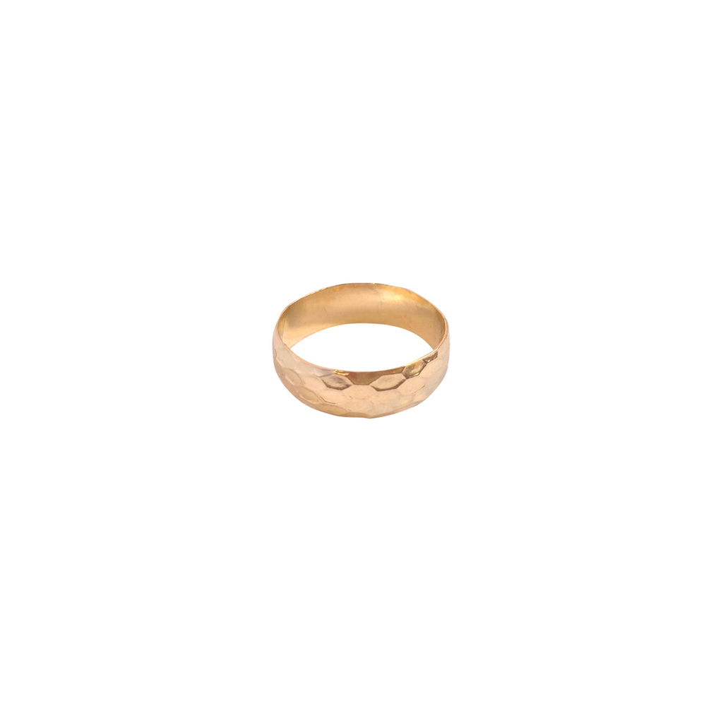 Cleo Patterned Thick Ring Band - 14k Gold Filled >>