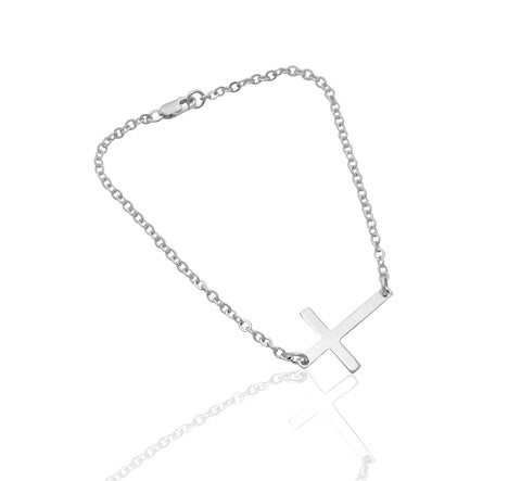 Cross Bracelet in Silver